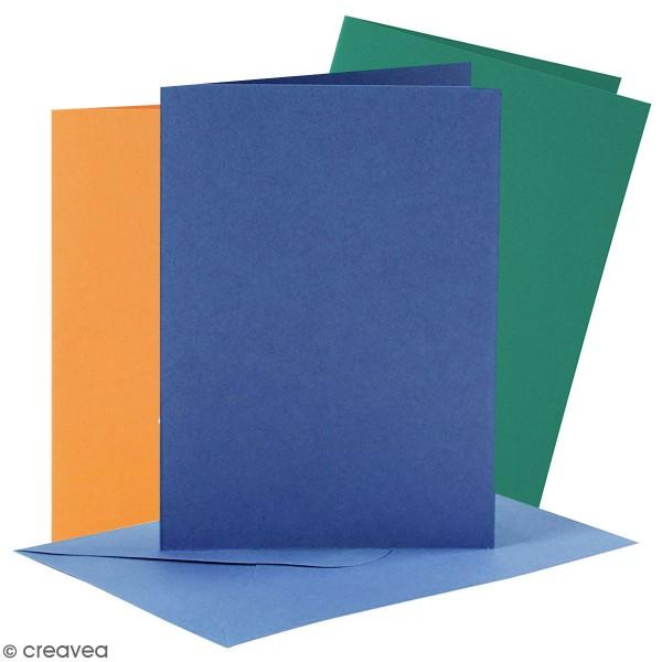 Cartes 10,5 x 15 cm et enveloppes - 6 sets - Photo n°1