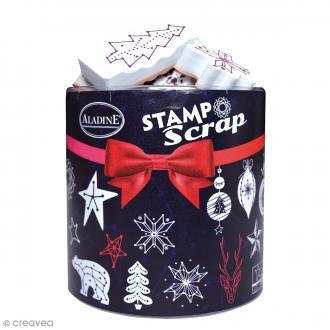 Kit Stampo Scrap - Constellation - 32 tampons + 1 encreur noir