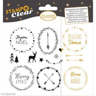 Kit Stampo Clear - Noël - 15 motifs