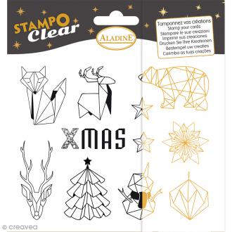 Kit Stampo Clear - Origami - 11 motifs