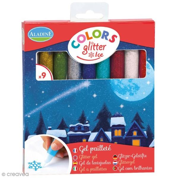 Marqueurs Colors Glitter Ice - Pailleté - 9 pcs - Photo n°1