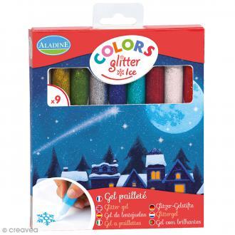 Marqueurs Colors Glitter Ice - Pailleté - 9 pcs