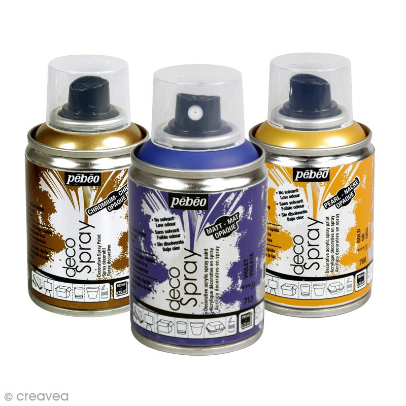 bombe de peinture decospray 100 ml peinture decospray creavea. Black Bedroom Furniture Sets. Home Design Ideas