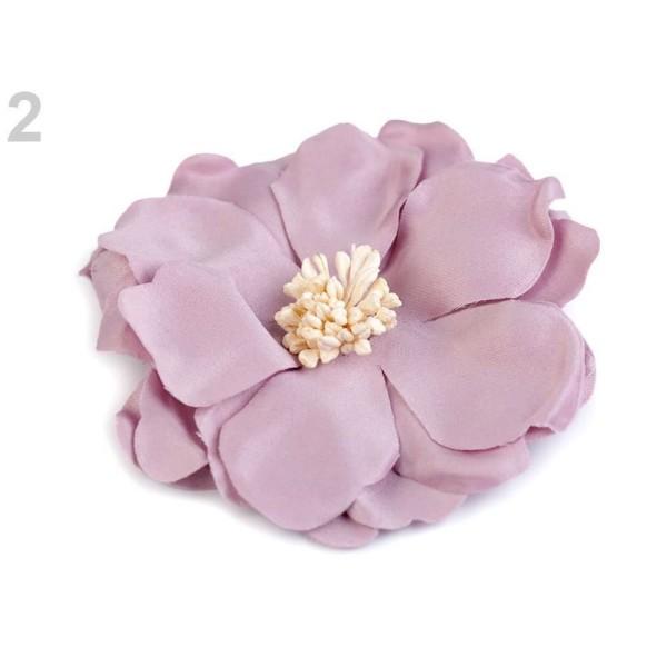 2pc 2 Vintage Rose de Fleurs en Tissu ø 75mm, d'Autres Fleurs À Coudre Ou à coller Sur, des Vêtement - Photo n°1