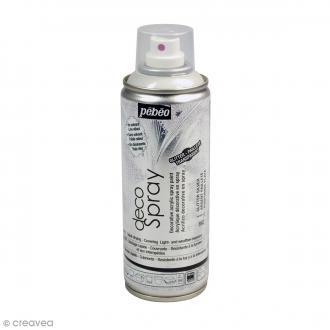 Bombe de peinture DecoSpray Paillettes argentées - 200 ml