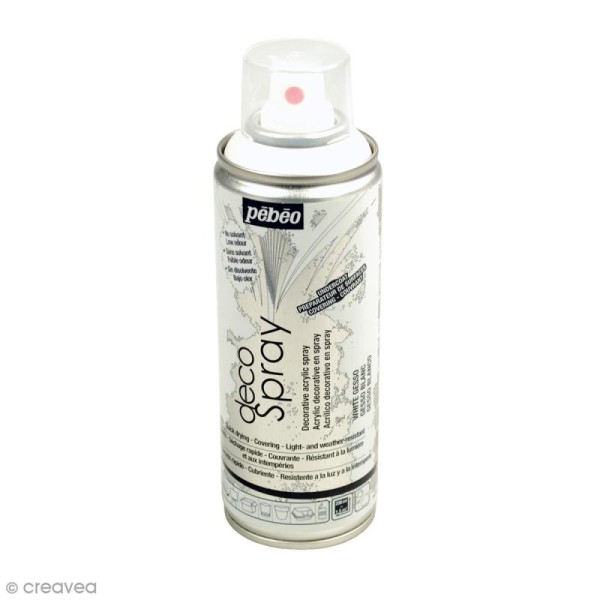 Préparateur de surfaces DecoSpray - Gesso blanc - 200 ml - Photo n°1