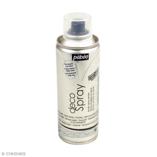 Bombe de vernis transparent Brillant DecoSpray - 200 ml - Photo n°1