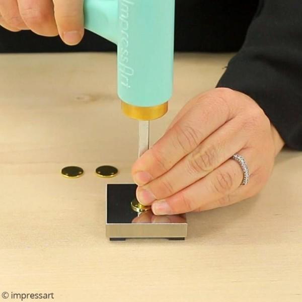 Support bloc en acier pour gravure de métal - 5 x 5 cm (petit modèle) - Photo n°4