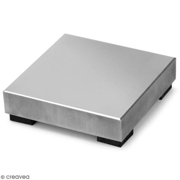 Support bloc en acier pour gravure de métal - 5 x 5 cm (petit modèle) - Photo n°1