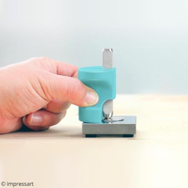 Tampon Coeur avec protège-doigts pour gravure métal - 3 mm - Photo n°3