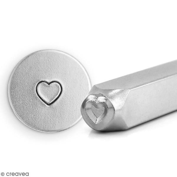 Tampon Coeur avec protège-doigts pour gravure métal - 6 mm - Photo n°4