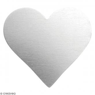 Coeurs à graver - Métal - 18 x 20 mm - 17 pcs