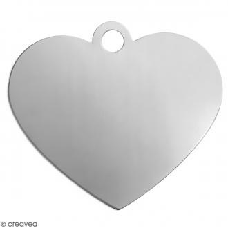Coeurs XL à graver - Métal - 42 x 48 mm - 5 pcs
