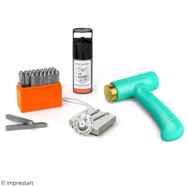 Set tampons Chiffres pour gravure sur métal - Bridgette - 9 pcs - Photo n°2