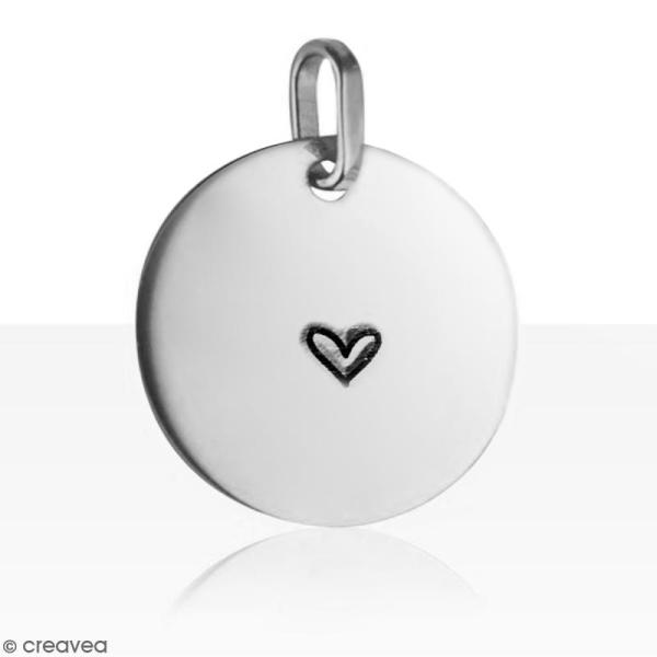 Tampon poinçon pour gravure métal - Coeur fantaisie - 3 mm - Photo n°2