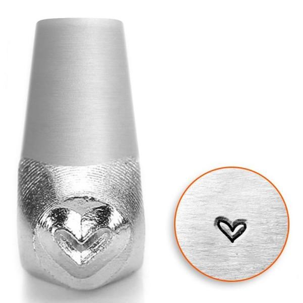 Tampon poinçon pour gravure métal - Coeur fantaisie - 3 mm - Photo n°1