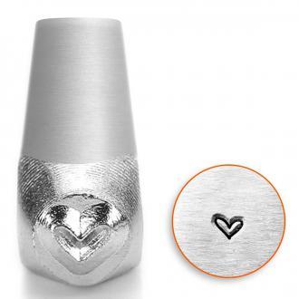 Tampon poinçon pour gravure métal - Coeur fantaisie - 3 mm
