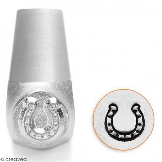 Tampon poinçon pour gravure métal - Fer à cheval - 6 mm
