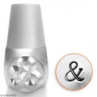 Tampon poinçon pour gravure métal - Esperluette - 6 mm