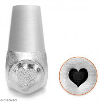 Tampon poinçon pour gravure métal - Coeur plein - 6 mm