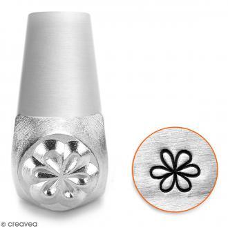 Tampon poinçon pour gravure métal - Grande fleur - 6 mm
