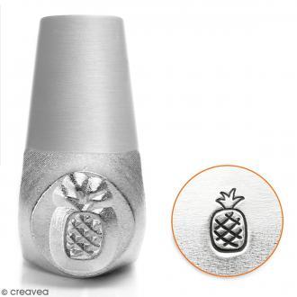 Tampon poinçon pour gravure métal - Ananas - 6 mm