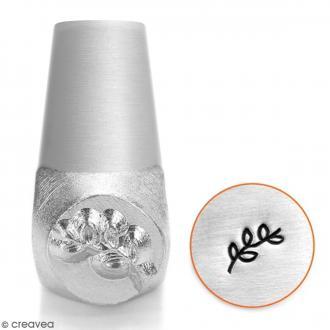 Tampon poinçon pour gravure métal - Vigne - 6 mm