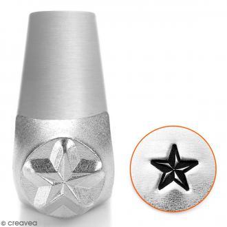 Tampon poinçon pour gravure métal - Etoile nautique - 6 mm