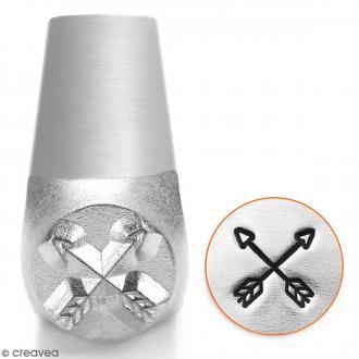 Tampon poinçon pour gravure métal - Flèches tendances - 6 mm