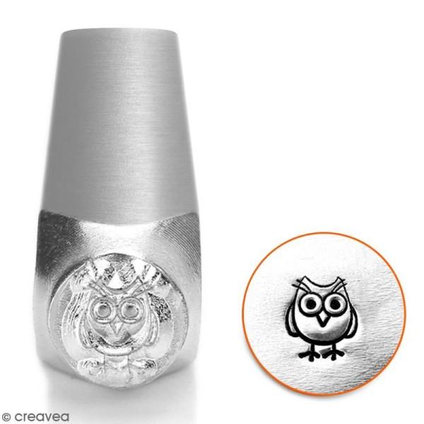 Tampon poinçon pour gravure métal - Hibou - 6 mm - Photo n°1