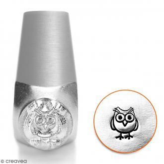 Tampon poinçon pour gravure métal - Hibou - 6 mm
