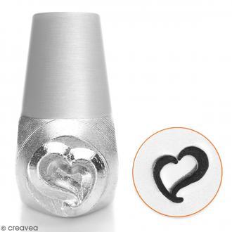 Tampon poinçon pour gravure métal - Coeur tourbillon - 6 mm