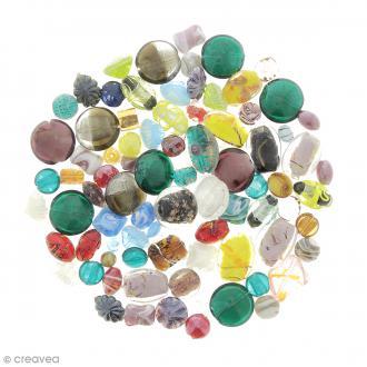 Assortiment de perles en verre - 500 g