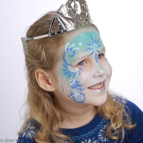 Palette de maquillage Grim'Tout - Sans paraben - Reine des neiges - 9 fards, 1 pinceau - Photo n°2
