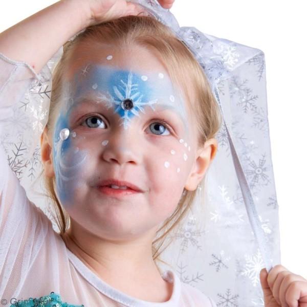 Palette de maquillage Grim'Tout - Sans paraben - Reine des neiges - 9 fards, 1 pinceau - Photo n°3