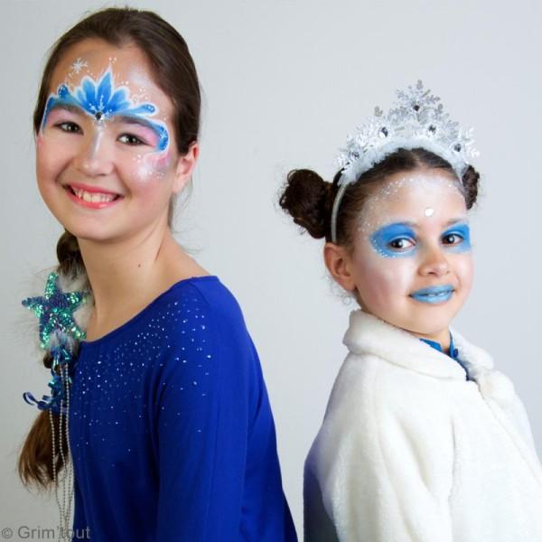 Palette de maquillage Grim'Tout - Sans paraben - Reine des neiges - 9 fards, 1 pinceau - Photo n°4