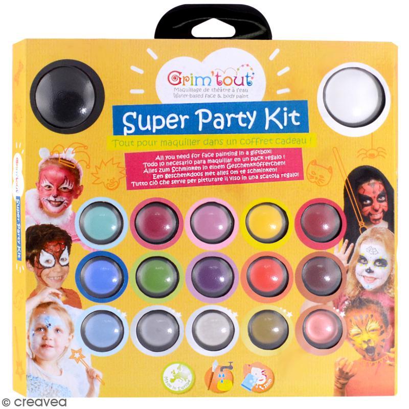 Kit de maquillage Super Party Kit - 17 couleurs et 14 accessoires - Photo n°1