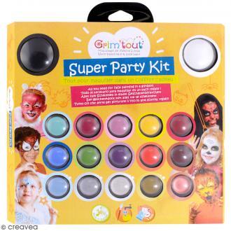 Kit de maquillage Super Party Kit - 17 couleurs et 14 accessoires