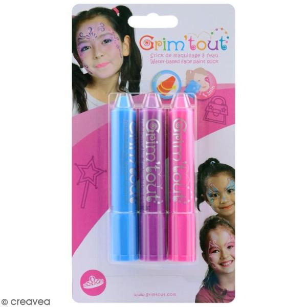 Maquillage Grim'tout - 3 sticks Grimstick Princesse - Sans paraben - Photo n°1