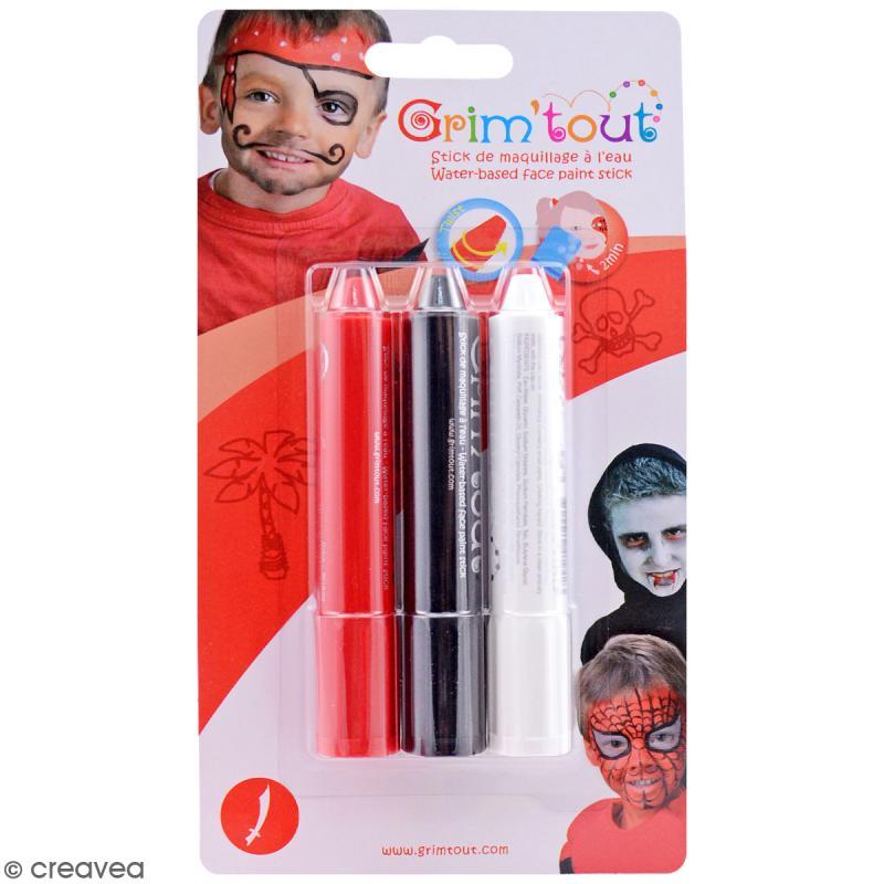 Maquillage Grim'tout - 3 sticks Grimstick Vampire - Sans paraben - Photo n°1