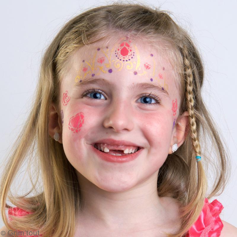 Pochoir maquillage adhésif Grim'tout - Princesse - Photo n°2