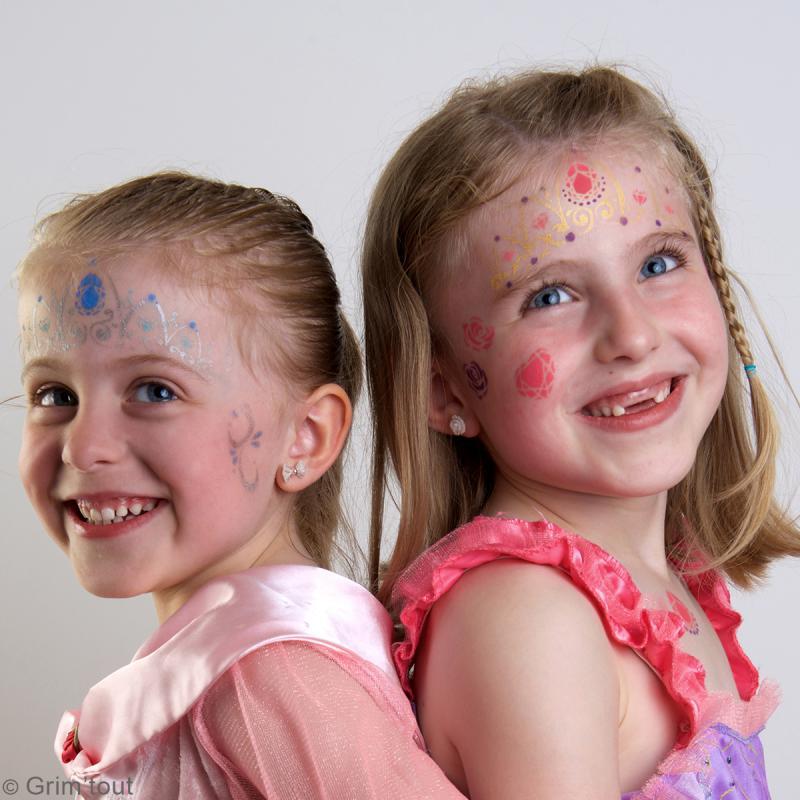 Pochoir maquillage adhésif Grim'tout - Princesse - Photo n°3
