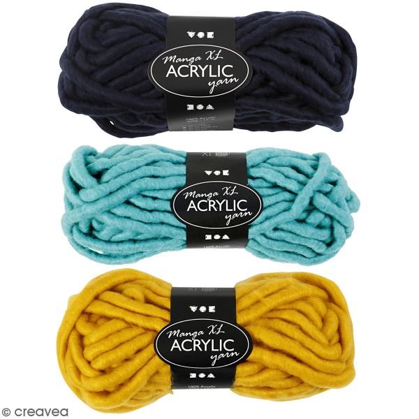 Pelote de laine Manga XL - Acrylique - Différents coloris - 200 gr - 17 m - Photo n°1