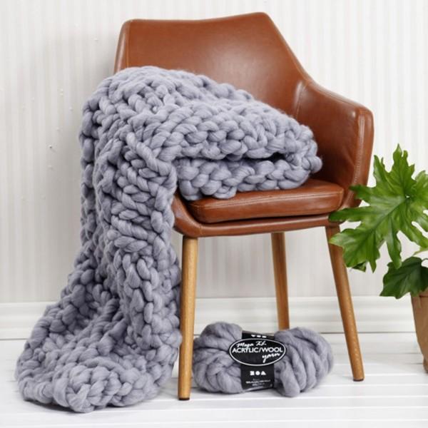 Pelote de laine Mega XL - Acrylique et laine - Différents coloris - 300 gr - 15 m - Photo n°2