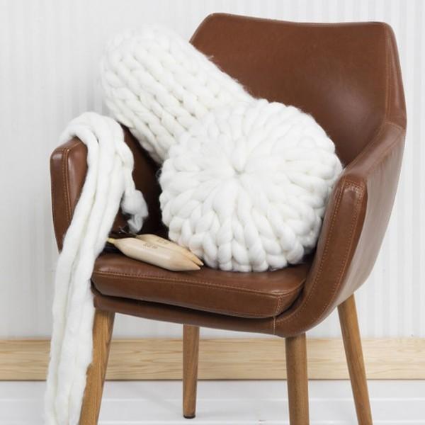 Pelote de laine Mega XL - Acrylique et laine - Différents coloris - 300 gr - 15 m - Photo n°4