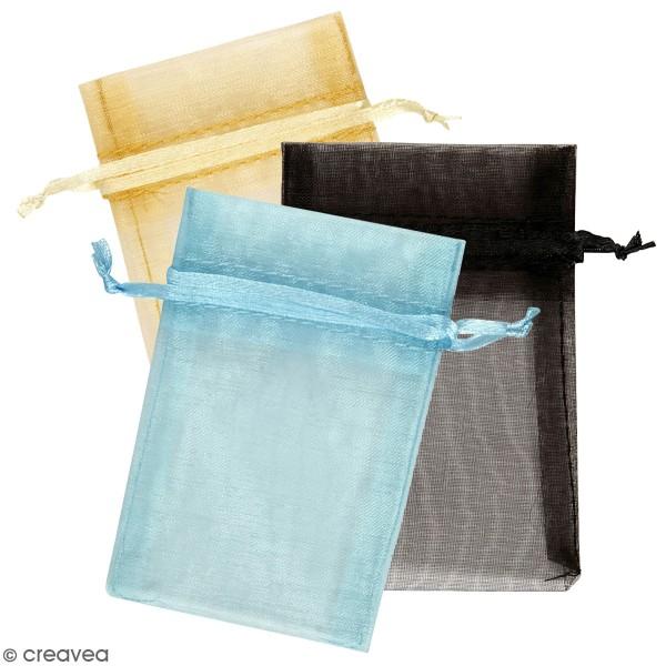 Sachet en organza - Différents coloris - 7 x 10 cm - 10 pcs - Photo n°1