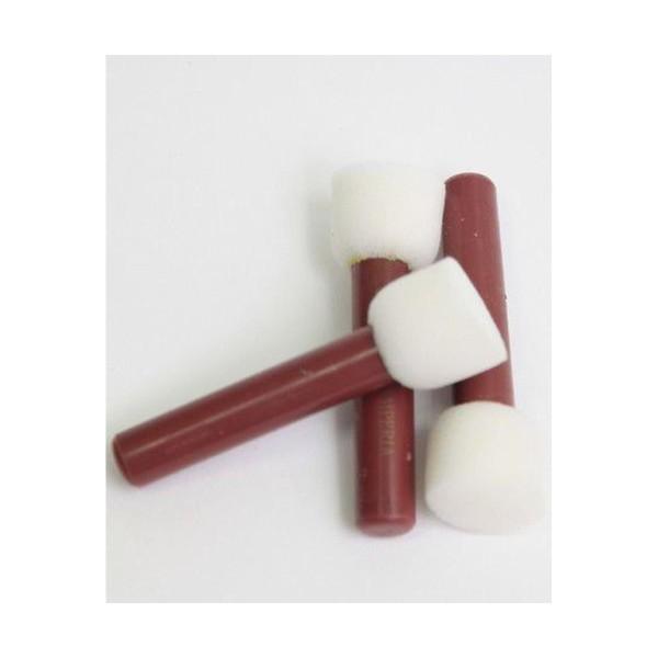 Brosses en Mousse Pour le Blanchiment de 2,8 cm (3pcs), le Poly Pinceau, Pinceau à la Main, au Pince - Photo n°1