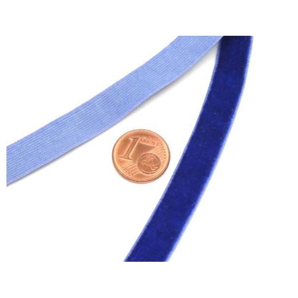 1m Galon Élastique 10mm En Velours Bleu Outremer- Idéal Scrapbooking - Photo n°2