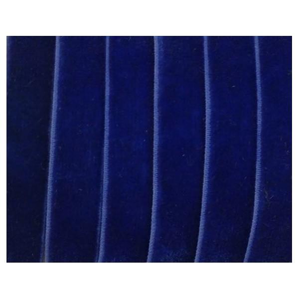 1m Galon Élastique 10mm En Velours Bleu Outremer- Idéal Scrapbooking - Photo n°1