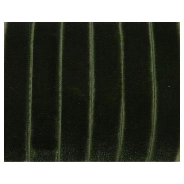 1m Ruban Élastique Plat 10mm En Velours Vert Olive Foncé Pour Headband, Scrapbooking - Photo n°1